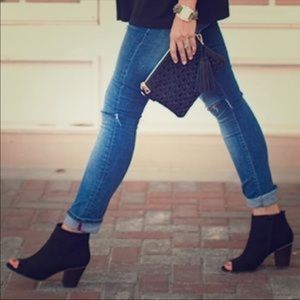 Old Navy Peep Toe Blackjack bootie